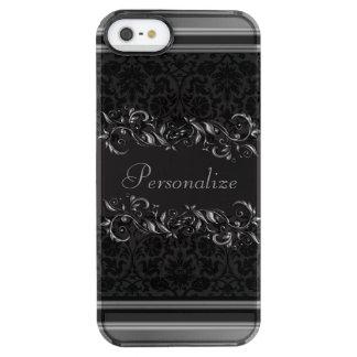 Elegant Damask Metallic Accents Clear iPhone SE/5/5s Case