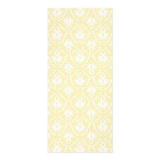 Elegant damask pattern. Light gold color. Full Color Rack Card