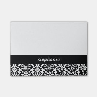 Elegant Damask Patterns with Black and White Post-it® Notes
