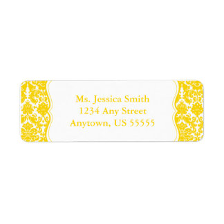 Elegant Damask Return Address Label