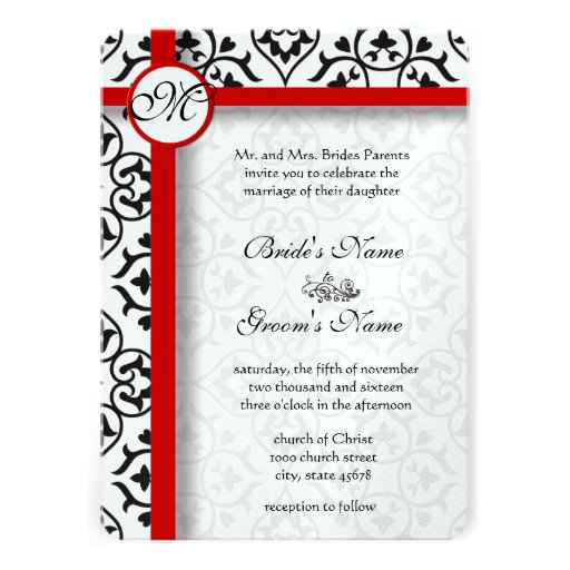 Elegant Wedding Invitation Borders