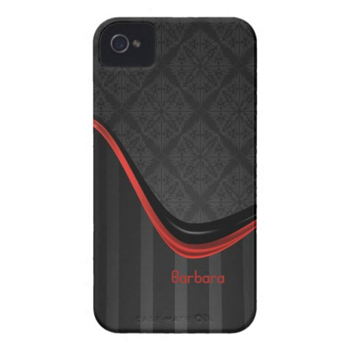 Elegant Damask Stripe Blackberry Bold  Case Case-Mate Blackberry Case