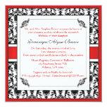 Elegant Damask Swirl Invite [Red]