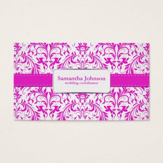 Elegant Damask Wedding Coordinator Business Cards