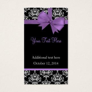 Elegant Damask Wedding Gift Tags Business Card