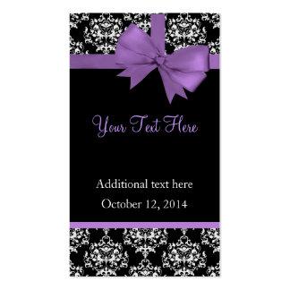 Elegant Damask Wedding Gift Tags Business Cards
