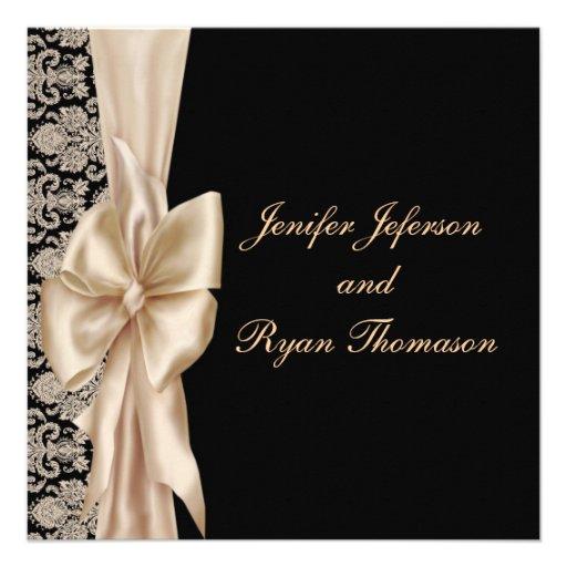 Elegant damask wedding Invitation Custom Invitation