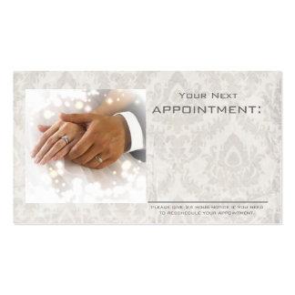 elegant damask wedding planner business business card templates