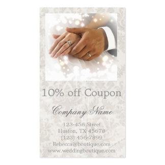 elegant damask wedding planner business business cards