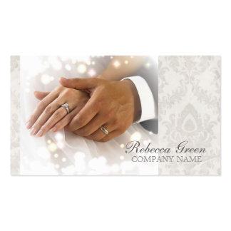 elegant damask wedding planner business business card template