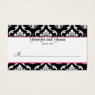 Elegant Damask Wedding Reception Place Card