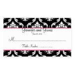 Elegant Damask Wedding Seating Card Business Cards