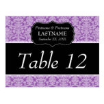 Elegant Damask - Wedding Table Number Postcard