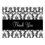 Elegant Damask Wedding Thank You Card