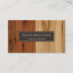 Wood grain business cards zazzle au elegant dark and light wood grain look business card reheart Image collections