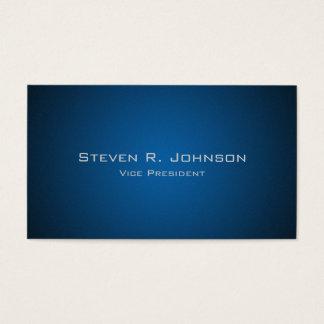 Elegant Dark Blue Ombre Custom Business Cards