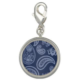 Elegant dark blue paisley pattern