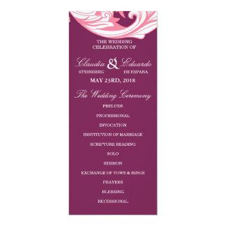 Elegant Dark & Classy Florals - Dark Purple, Pink 10 Cm X 24 Cm Invitation Card