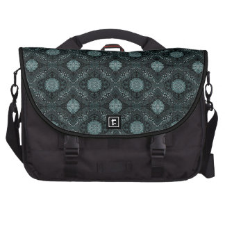 Elegant Dark Floral Pattern Laptop Bag