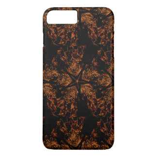 Elegant Dark Kaleidoscopic Design Black Brown Star iPhone 8 Plus/7 Plus Case