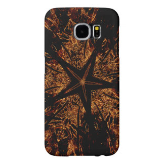 Elegant Dark Kaleidoscopic Design Black Brown Star Samsung Galaxy S6 Cases