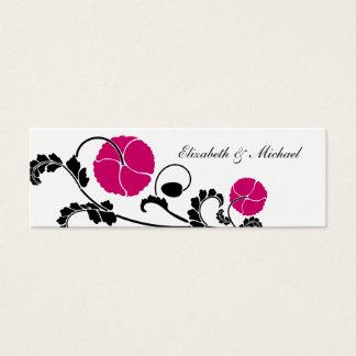 Elegant Dark Pink Poppy Gift Registry Cards