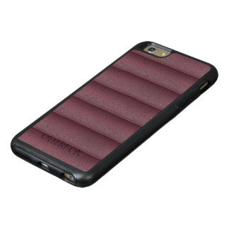 Elegant Dark Red Leather design OtterBox iPhone 6/6s Plus Case