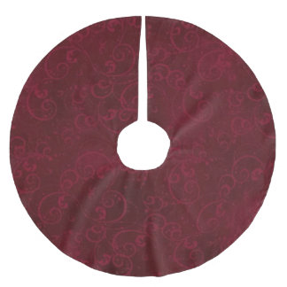Elegant Dark Red Tree Skirt