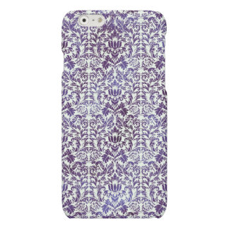 Elegant Dark Royal Purple Damask Batik