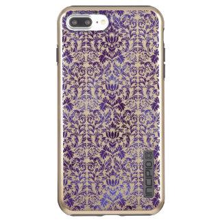 Elegant Dark Royal Purple Damask Batik Incipio DualPro Shine iPhone 8 Plus/7 Plus Case