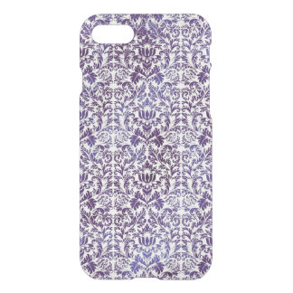 Elegant Dark Royal Purple Damask Batik iPhone 8/7 Case