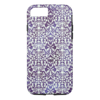Elegant Dark Royal Purple Damask Batik iPhone 8/7 Case
