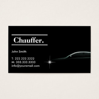 Elegant Dark Taxi Driver/Chauffeur Business Card