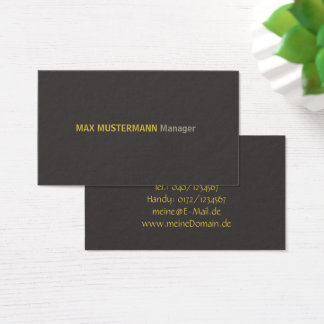 Elegant dark visiting card