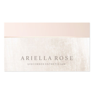 Elegant Day Spa and Salon Blush Pink White Marble Pack Of Standard Business Cards