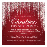 Elegant Dazzle Christmas Holiday Party Red Invite