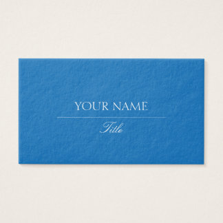 Elegant Dazzling Blue Business Card