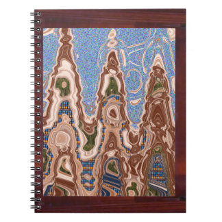 Elegant decoration Sea Land Waves abstract Border Spiral Note Books