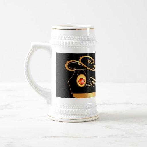 Elegant, decorative design mug