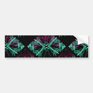Elegant Decorative Pattern Bumper Sticker
