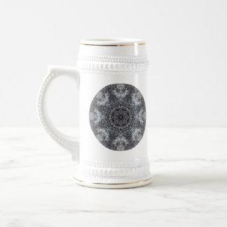 Elegant Decorative Round Pattern. Custom Beer Steins
