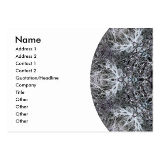 Elegant Decorative Round Pattern. Custom Pack Of Chubby Business Cards