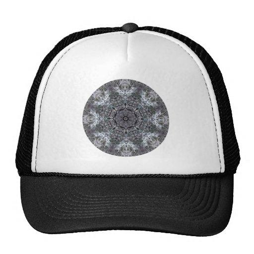 Elegant Decorative Round Pattern. Custom Trucker Hats