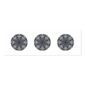 Elegant Decorative Round Pattern. Custom Pack Of Skinny Business Cards