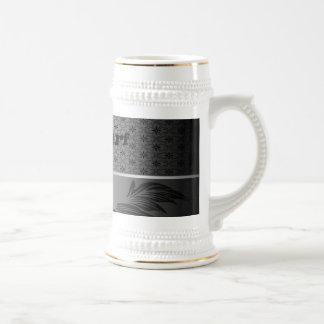 Elegant, decorative surf design coffee mugs
