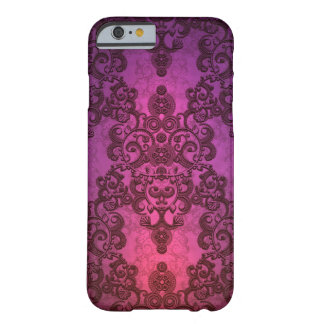 Elegant Deep Glowing Pink and Purple Damask Barely There iPhone 6 Case