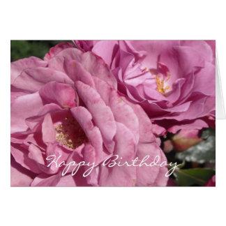 Elegant Deep Pink Rose Birthday Greeting Card