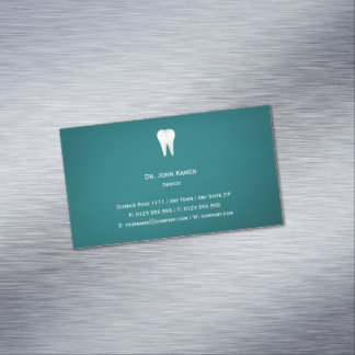 Elegant Dental Aqua Business Card