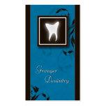 Elegant Dentist Business Card Blue Molar Tooth