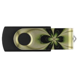 Elegant Design Green Butterfly Fractal Swivel USB 2.0 Flash Drive